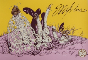 "Melvins 6-color screen print, edition of 100 16"" x 24.75"" $30.00"